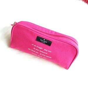Kate Spade | Pink Fabric Pencil Case/Cosmetic Bag